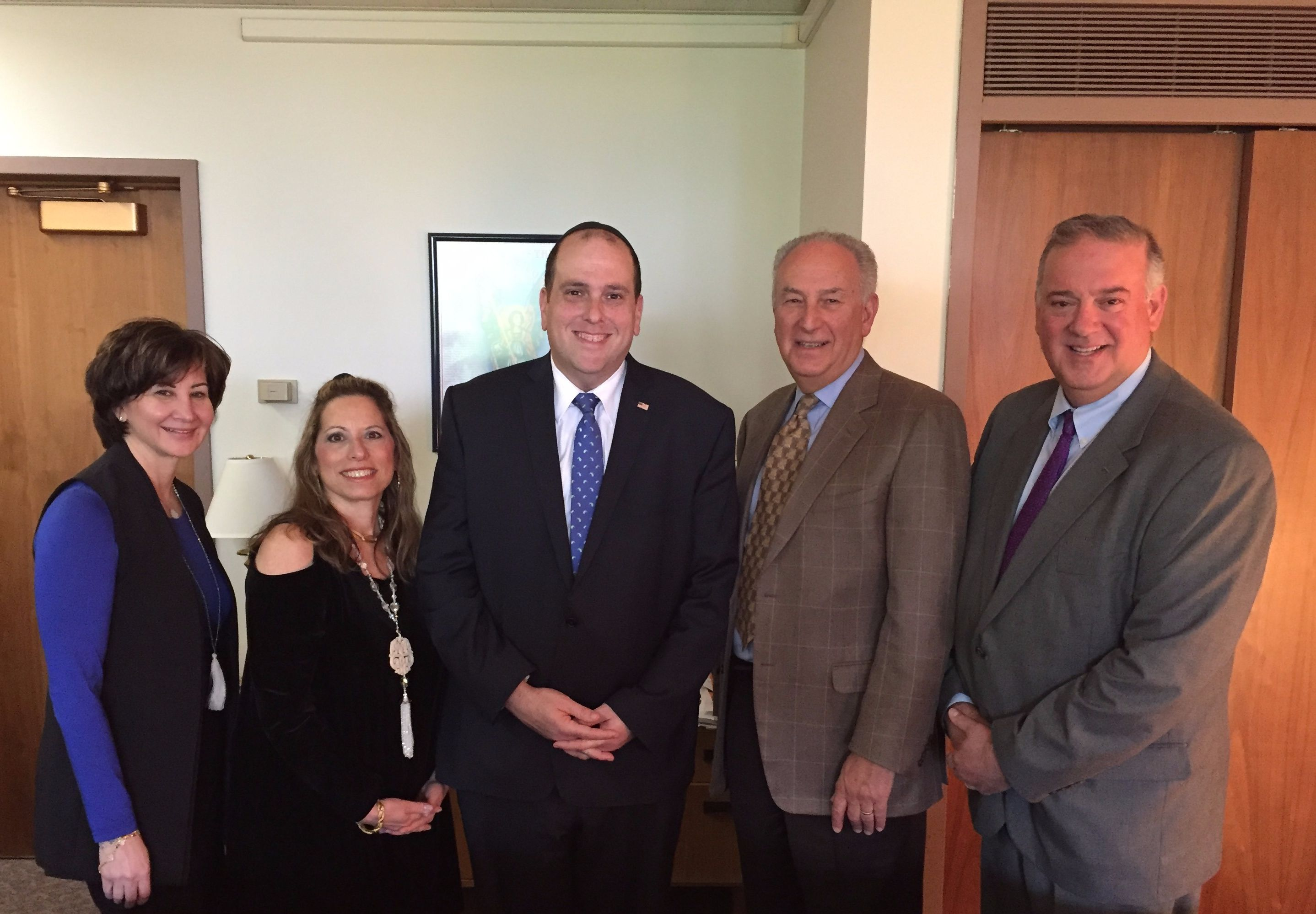 Queens Chamber of  Commerce  Members Fran Biderman-Gross, Cindy Grosz, Assemblyman Michael Simanowitz, Michael Nussbaum and Tom Gerch
