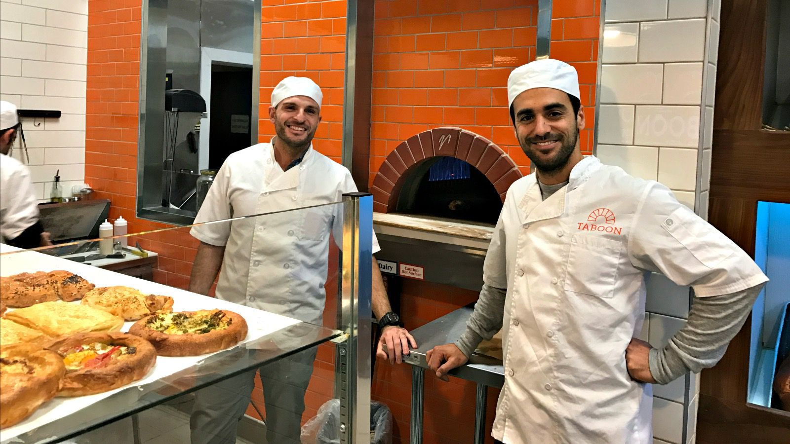 (left to right) Isaac Yosef and Avi Edri in their bakery