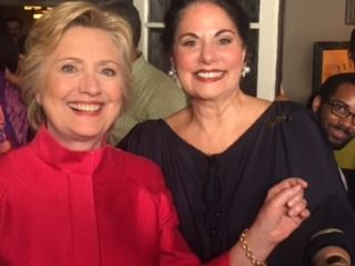 Varda Singer and Hillary Clinton at a recent campaign event.
