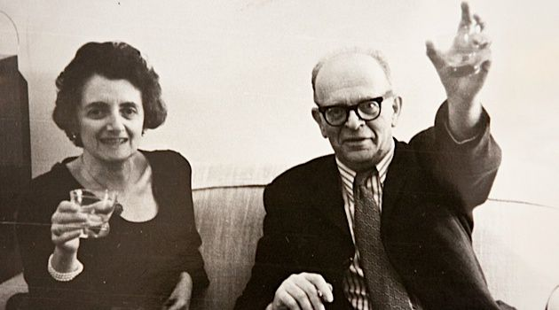Good as Gold: Glueckselig with her late husband Fritz, an antique dealer and poet, in 1972.