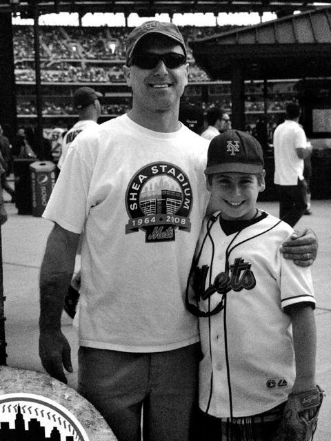 The author with his son at Citi Field on Father's Day, 2010.