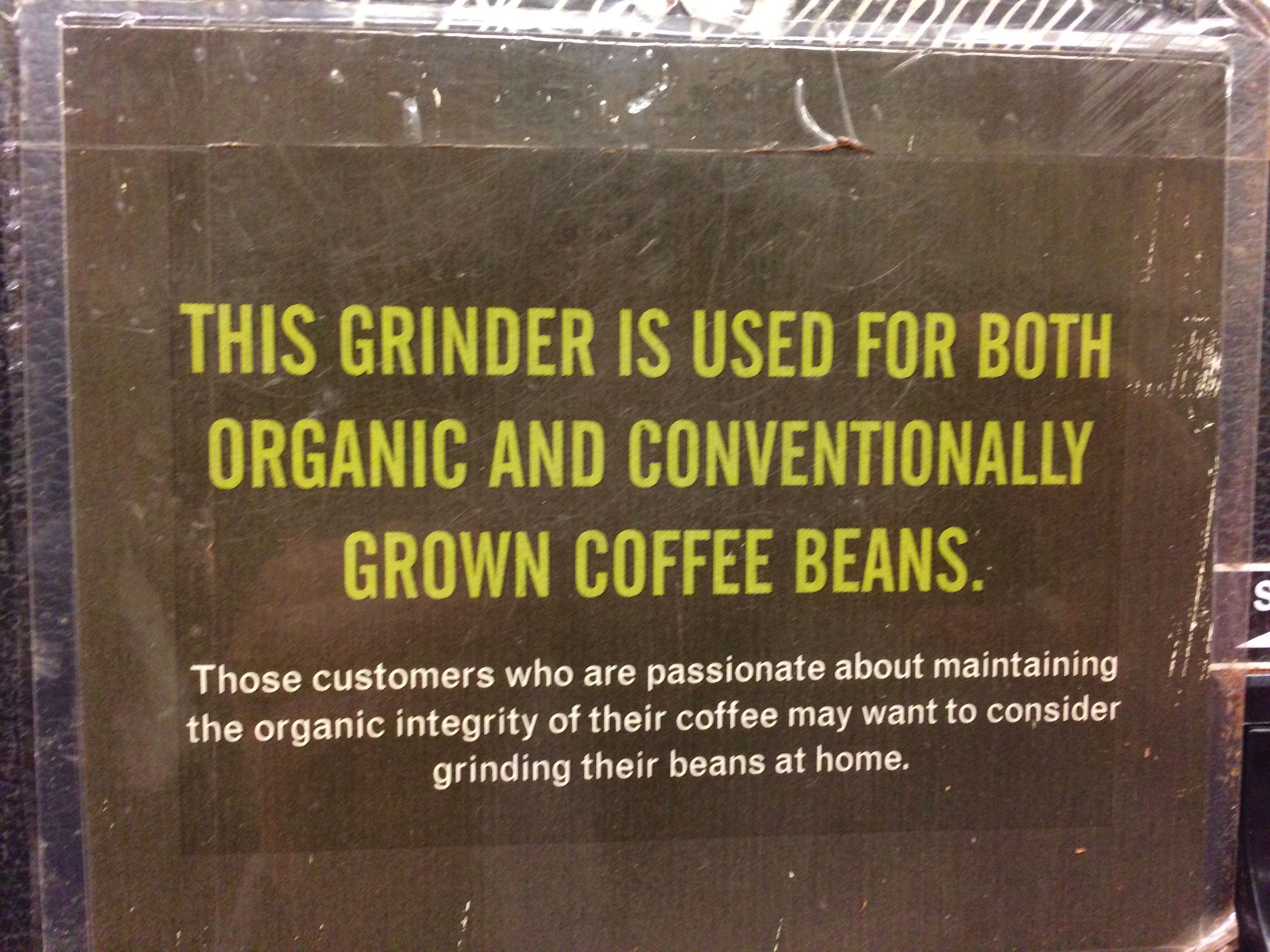 A sign in a New York City Whole Foods.