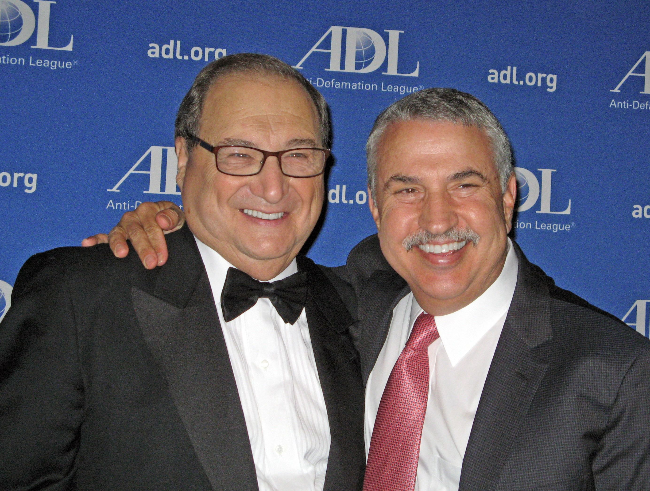 Abe Foxman with Tom Friedman