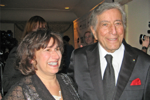 Janice Winehouse Collins and Tony Bennett