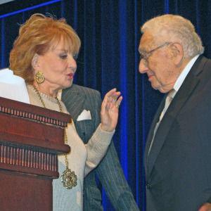Barbara Walters and Henry Kissinger