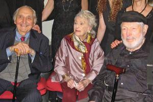 Fyvush Finkel, Bel Kaufman and Theo Bikel