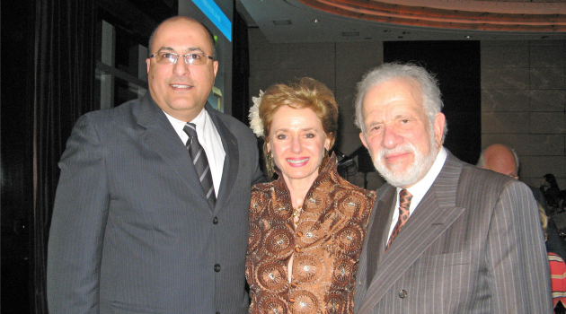 Smiling: Ido Aharoni, Georgette Bennett and Leonard Polonsky pose for a photo.