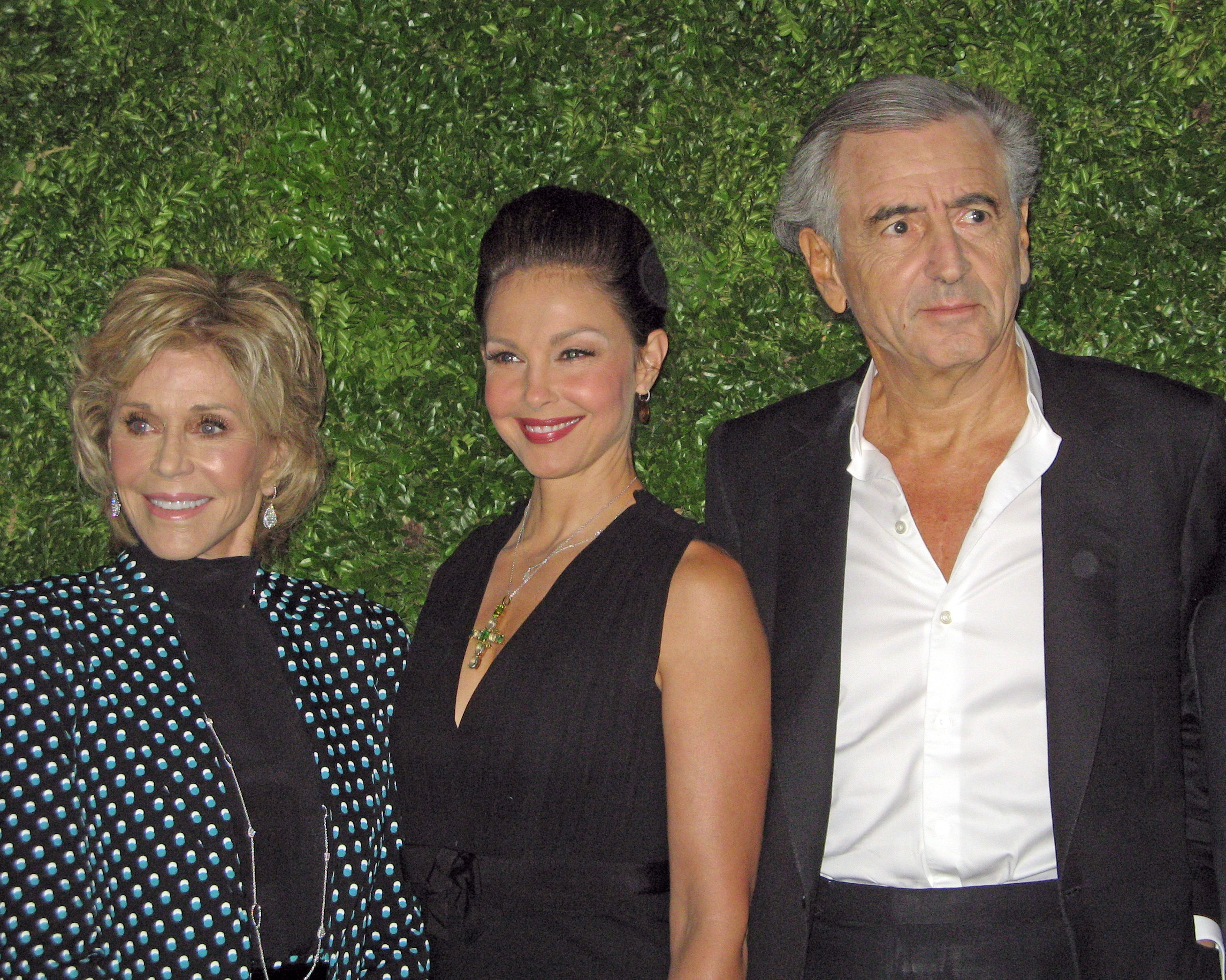 Jane Fonda, Ashley Judd and Bernard-Henri Levy
