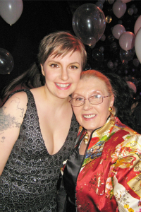 Lena Dunham and Masha Leon