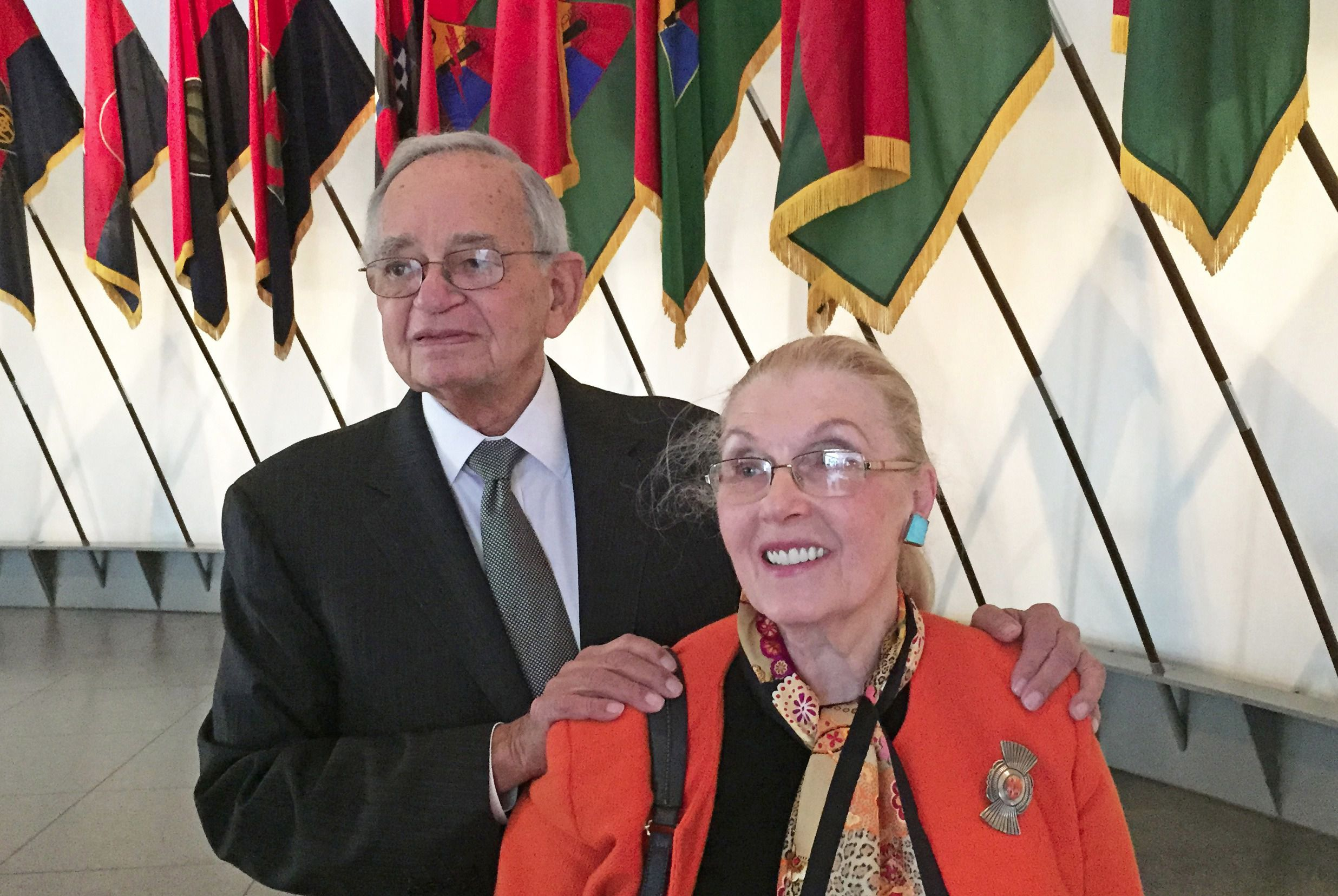 Leo Melamed and Masha Leon.