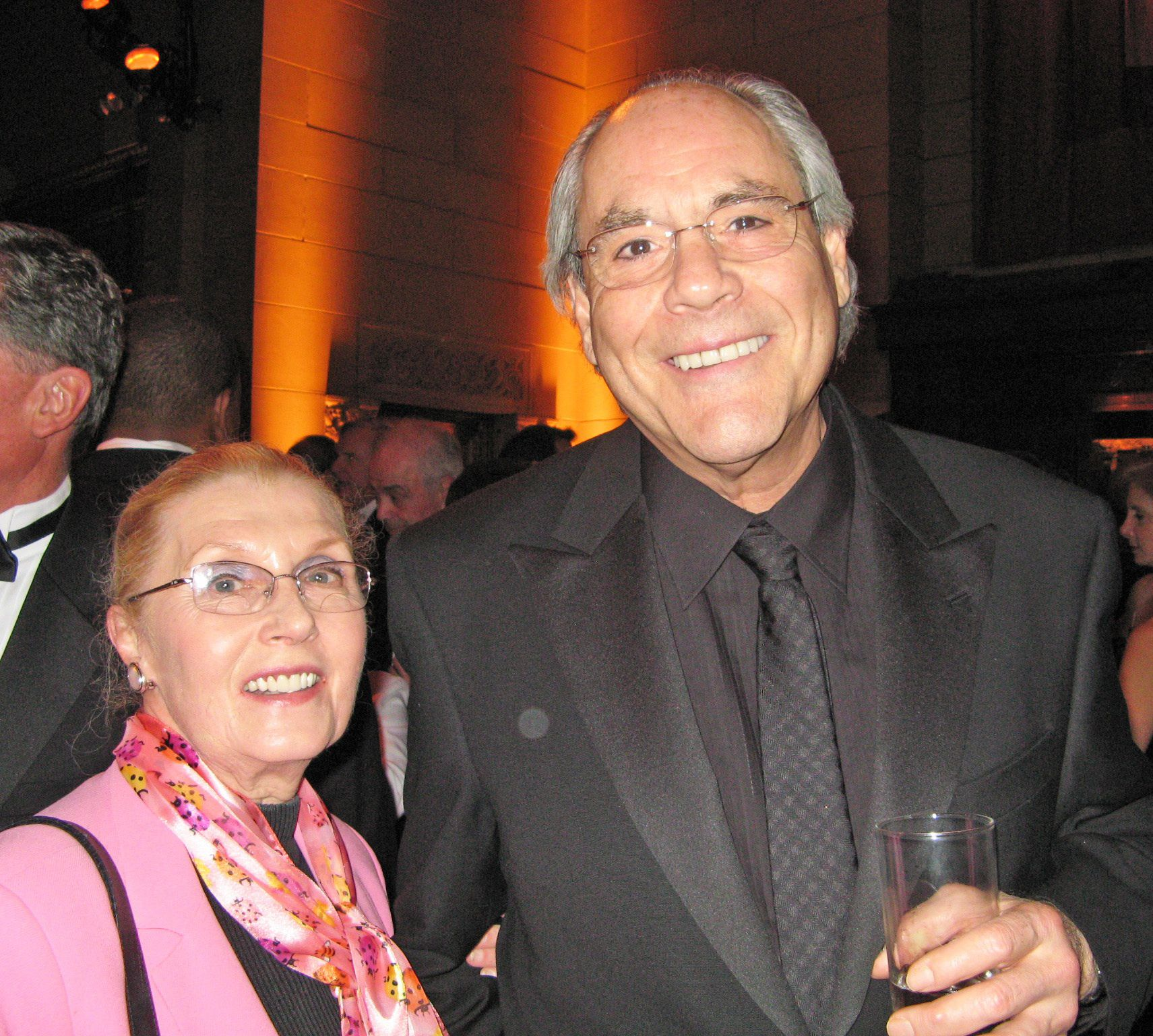 Masha Leon with Robert Klein.