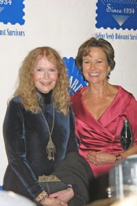 Mia Farrow and Kati Marton