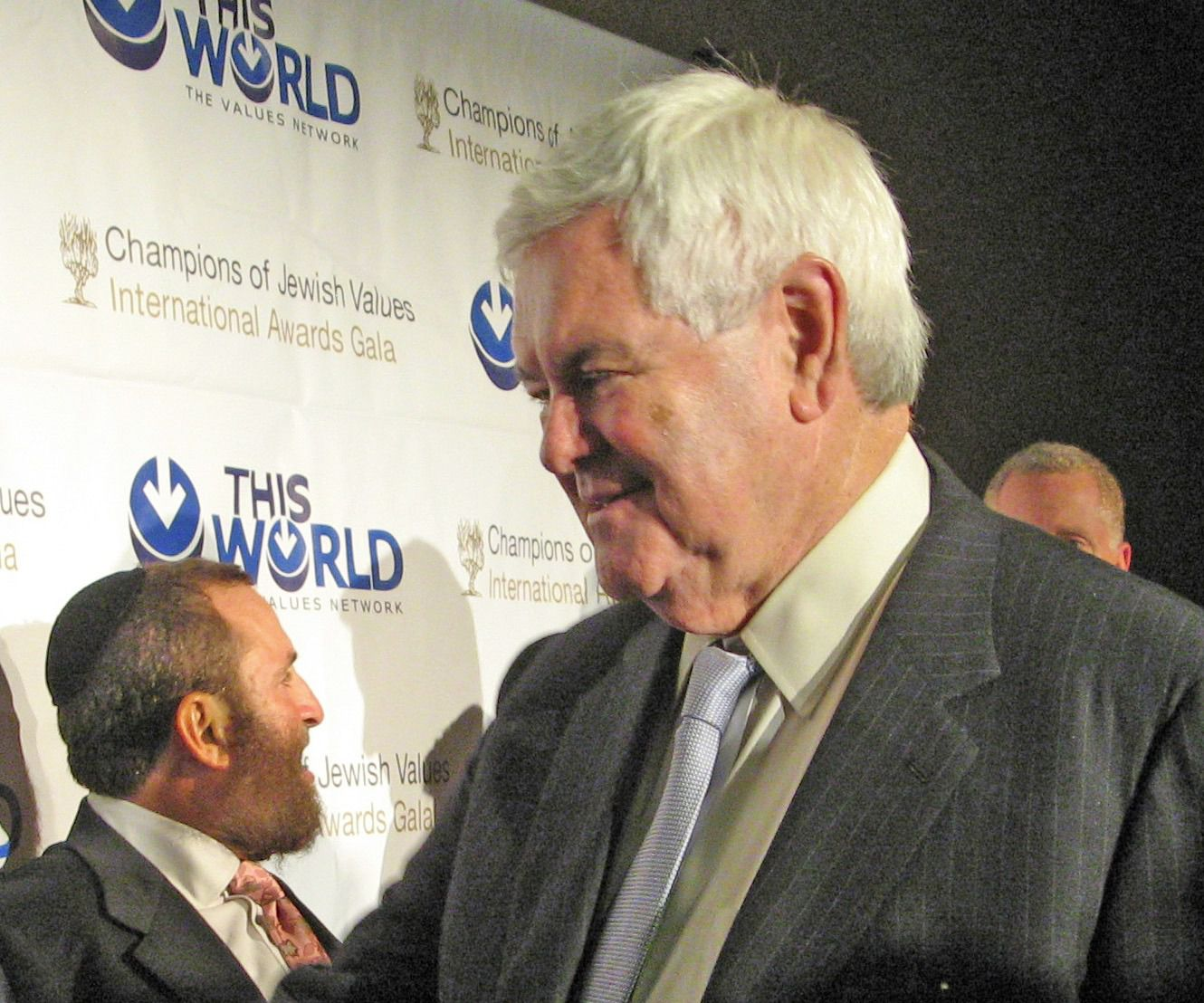 Newt Gingrich and Rabbi Shmuley Boteach