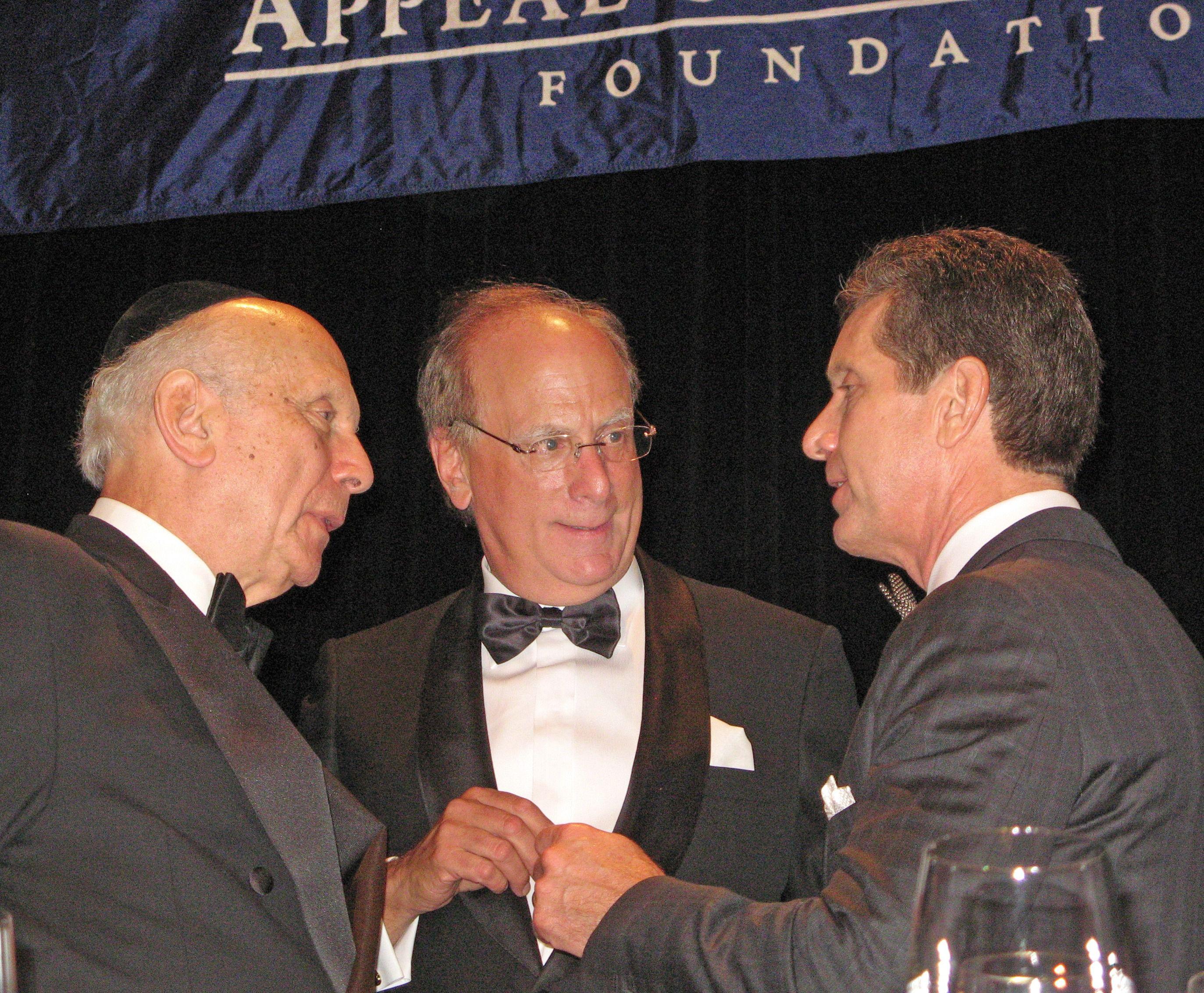Rabbi Arthur Schneier, Laurence Fink and Alex Gorsky.