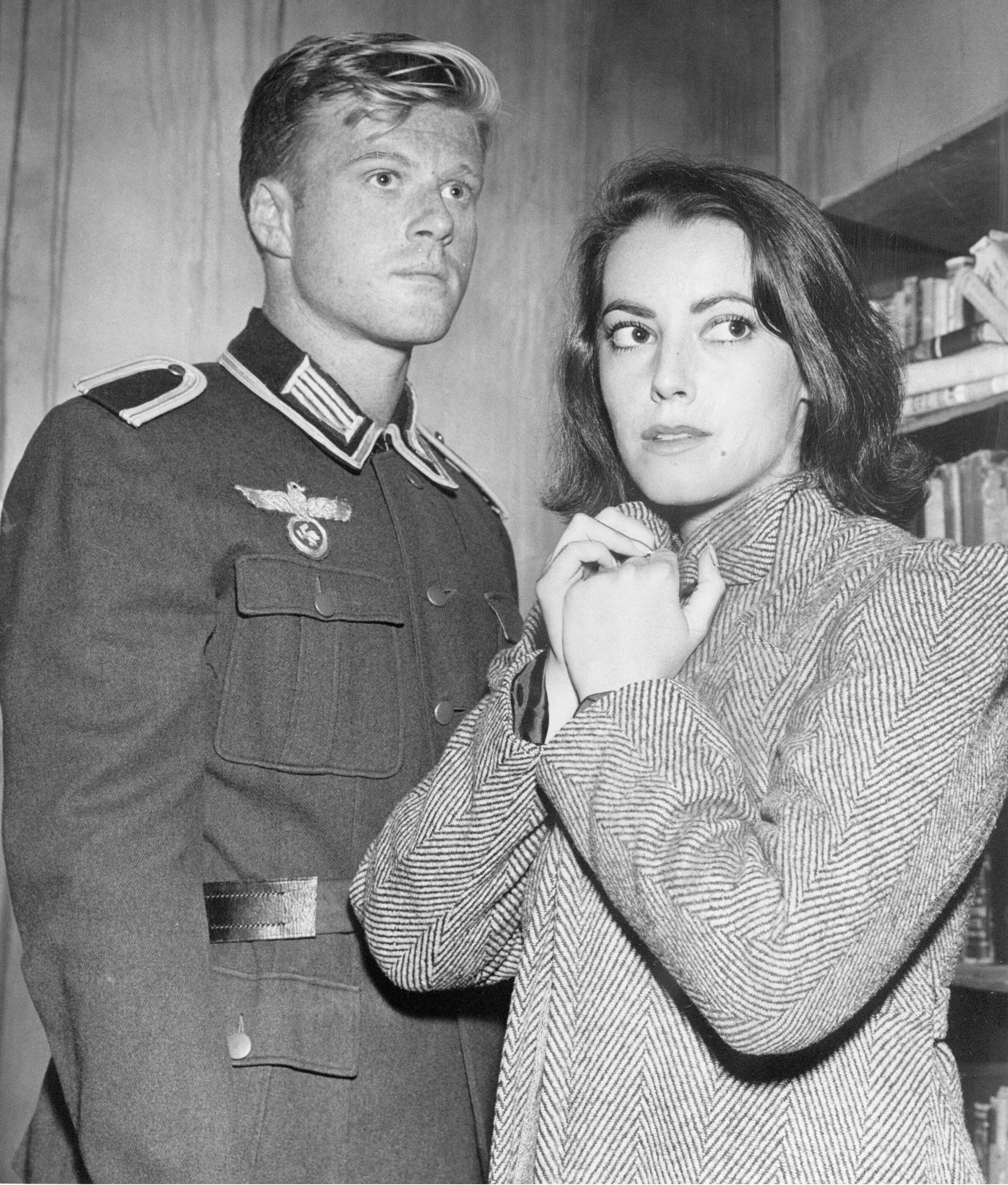 Playhouse 90 (CBS) TV series Season 4 Episode 17: In the Presence of Mine Enemies, May 18, 1960 Shown from left: Robert Redford, Susan Kohner
