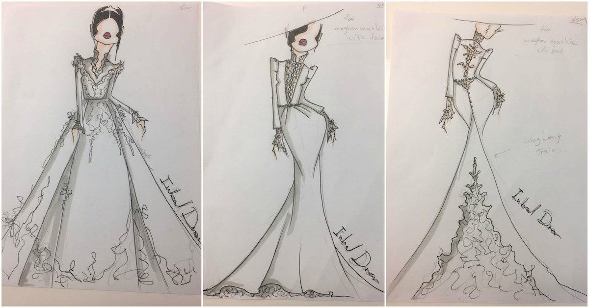 Inbal Drors Sketches Of Meghan Markles Dress Leaked The Forward