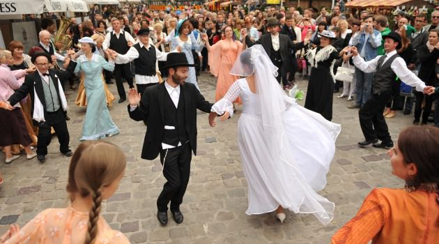 Customs of the Country: Dancers perform at the International Fest of Jewish Music in Lviv, Ukraine.