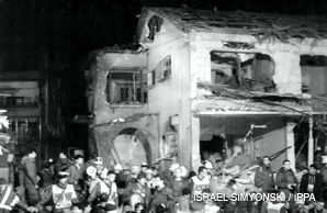 UNDER ATTACK: Iraqi Scud missiles fell on Tel Aviv during the first Gulf War in 1991. Many Israelis fled their homes.