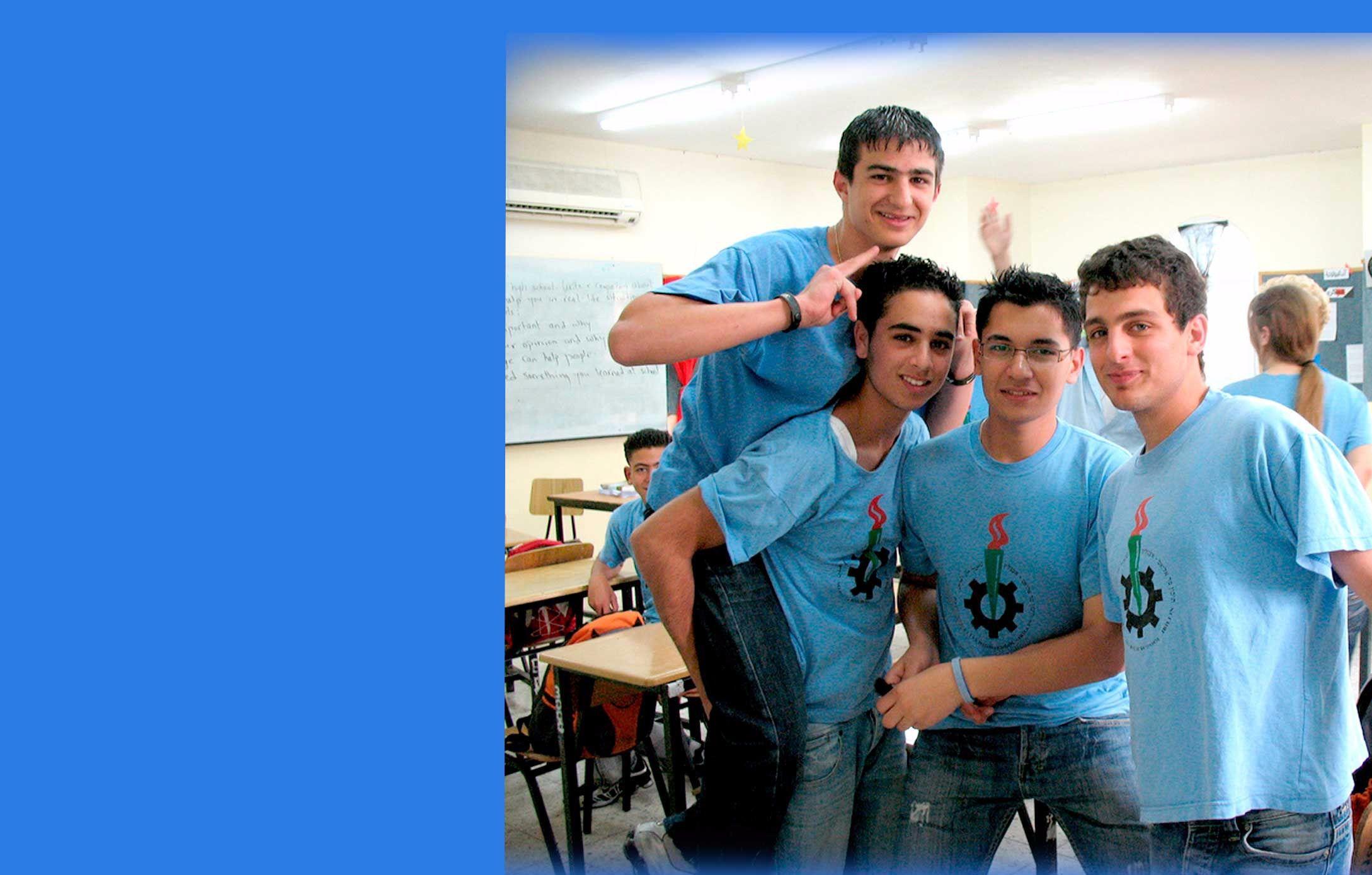 Mar Elias High School students in classroom. MEEI, Ibillin, Israel, May 3, 2007.