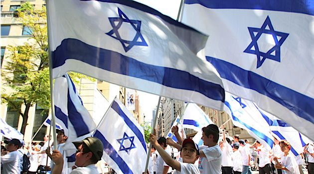 American Jews and Israelis march in the annual Israel day parade down Fifth Avenue. Up to 500,000 Jews with ties to Israel now live in the U.S.