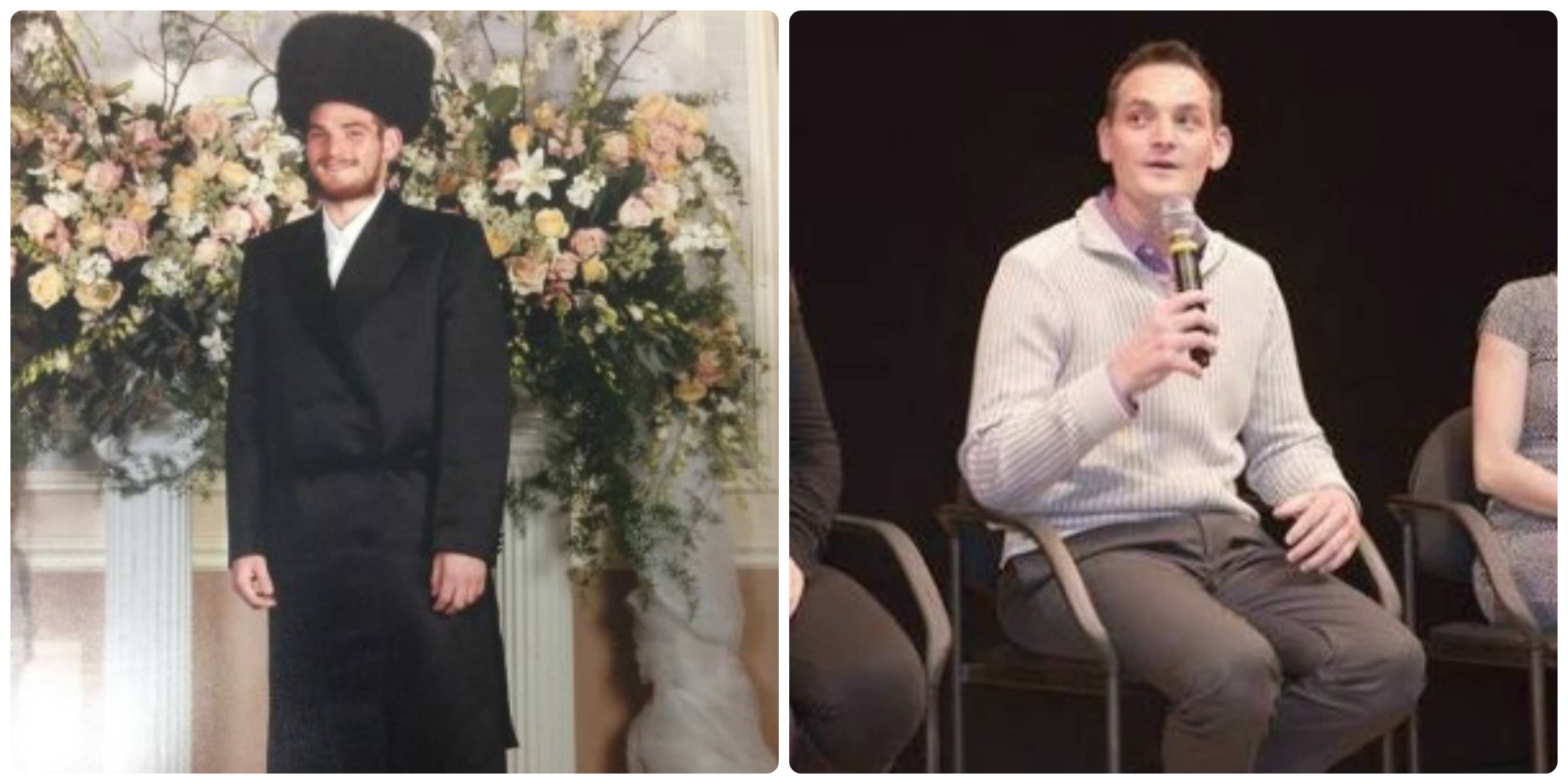Israel Irenstein before he left Orthodoxy (left) and after (right).