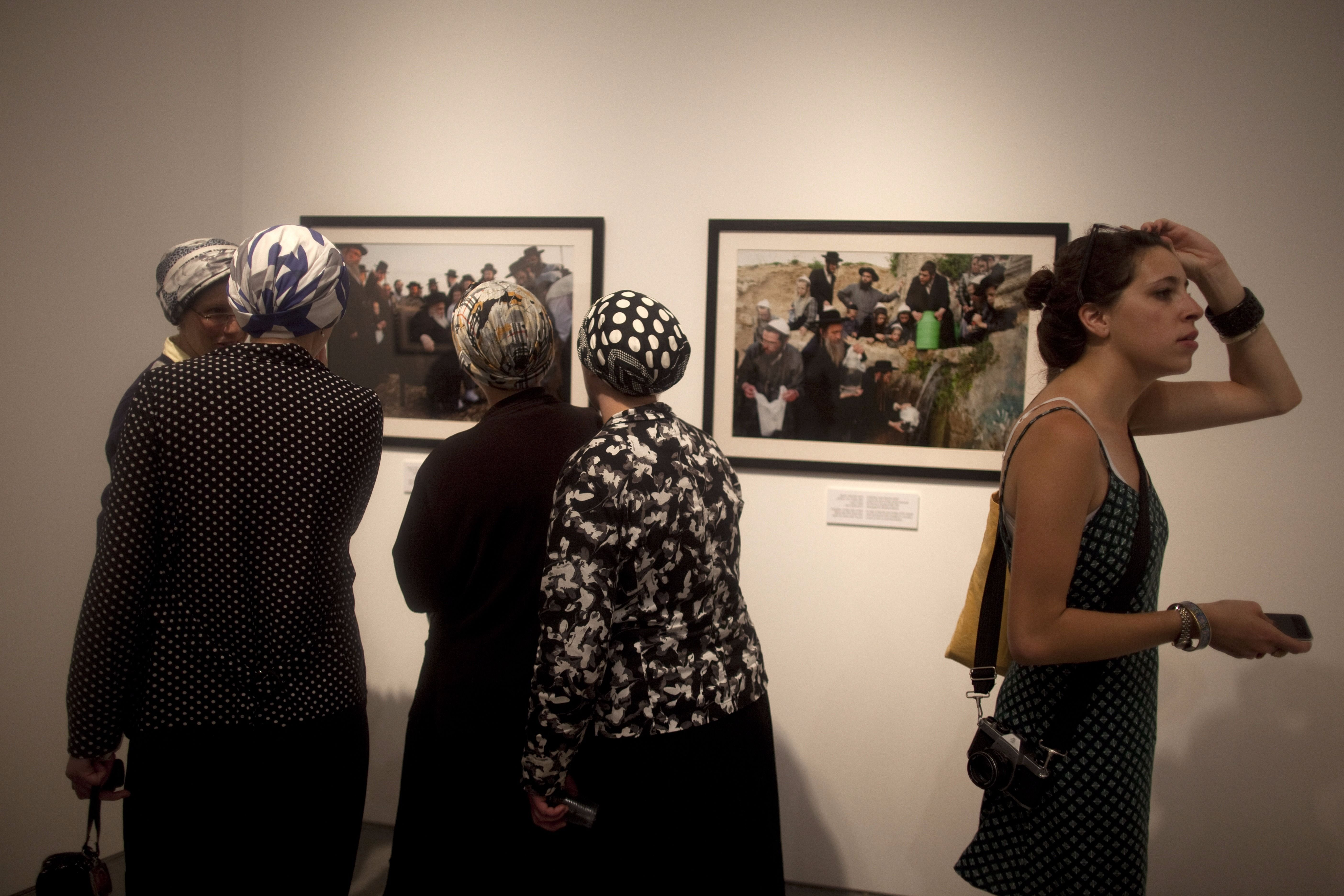 Women visiting the Israel Museum, Jerusalem.