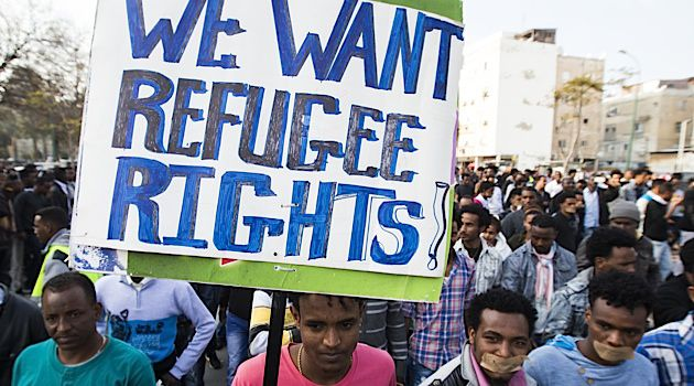 Illegal African immigrants have staged large protests in Tel Aviv and Jerusalem in recent months asking the government for rights and asylum.