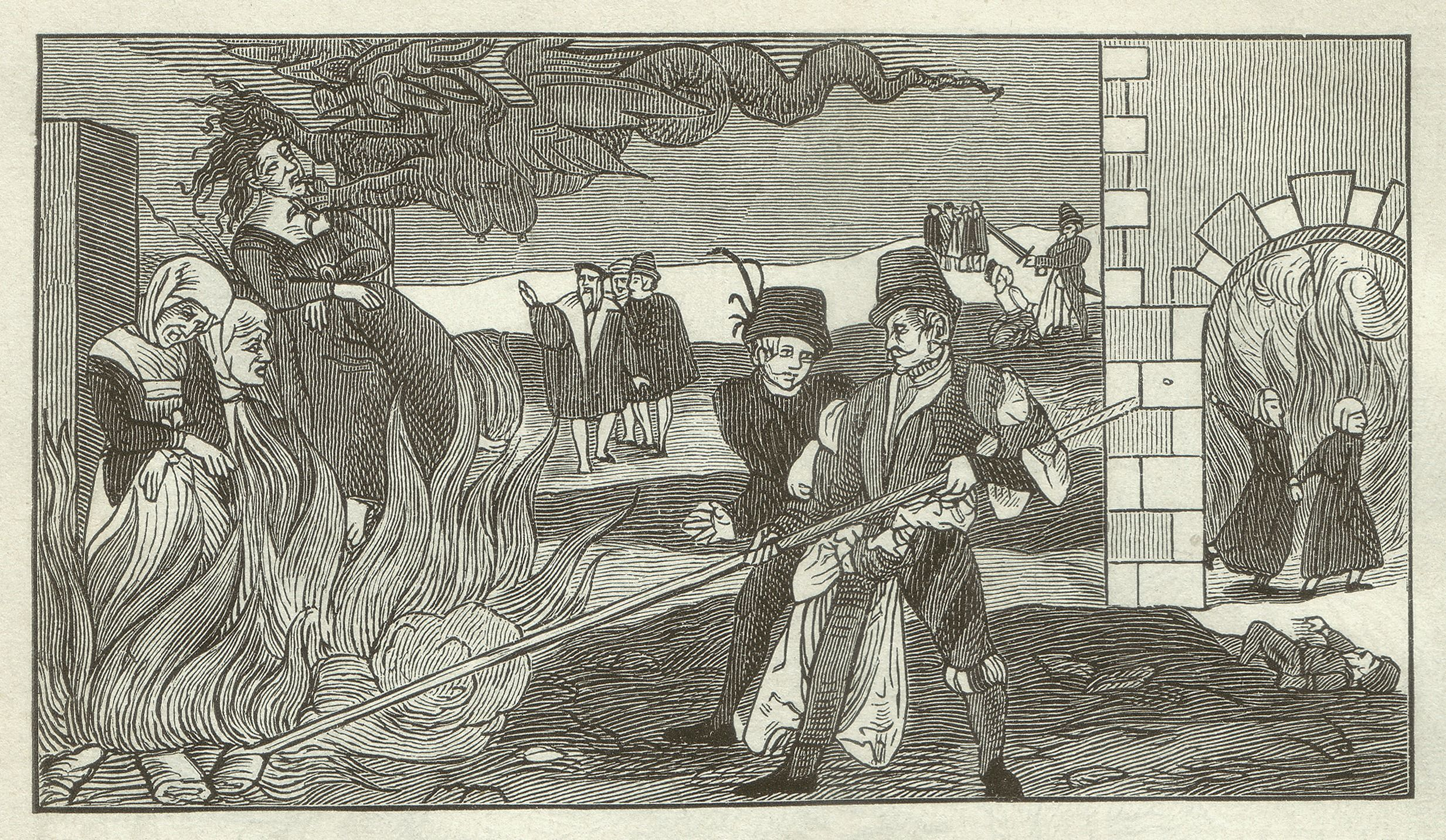 A witch-burning in the county of Regenstein, 1550