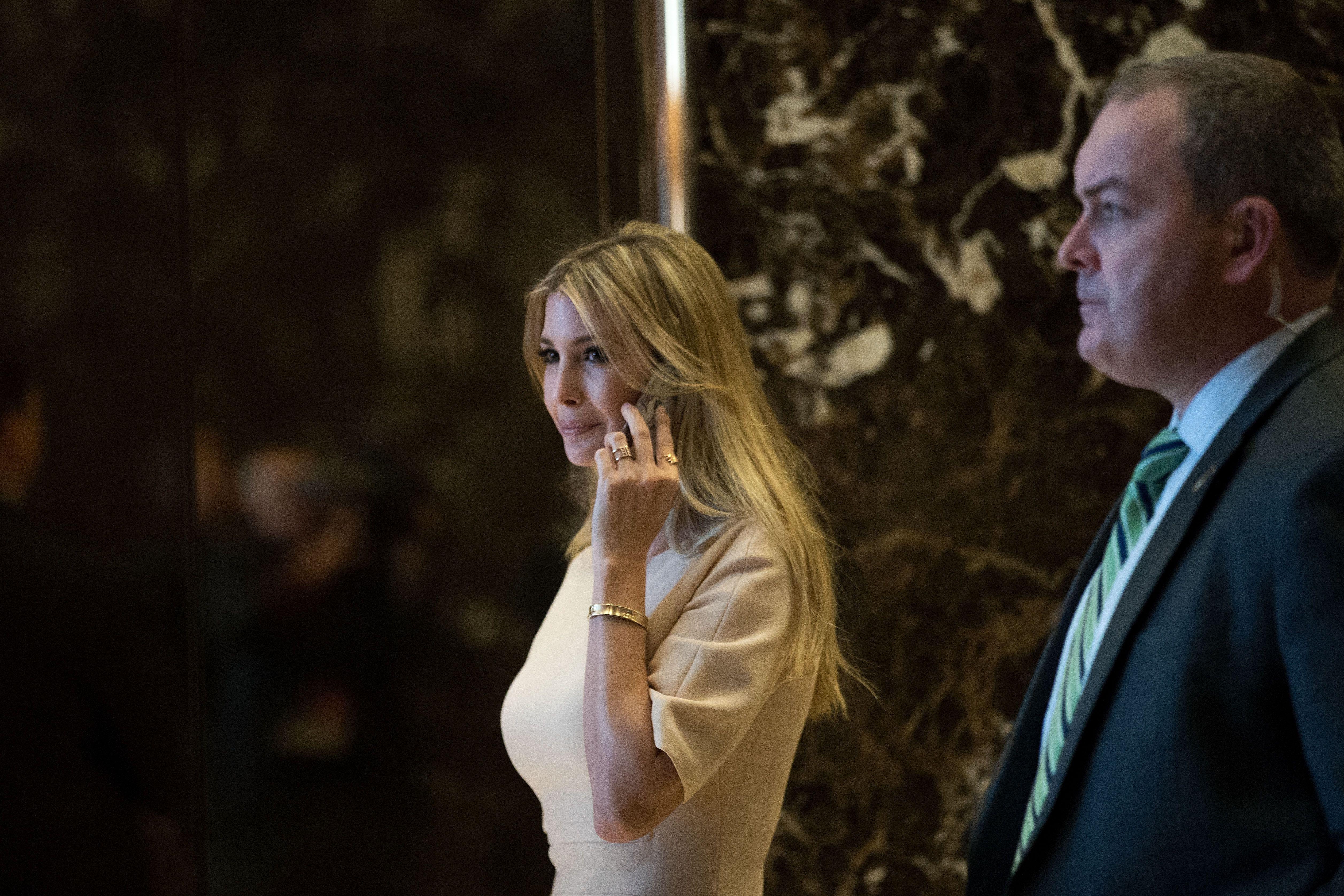 Ivanka Trump mixes bracelets and international diplomacy.