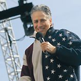 Comic Relief: Jon Stewart rallied his troops.
