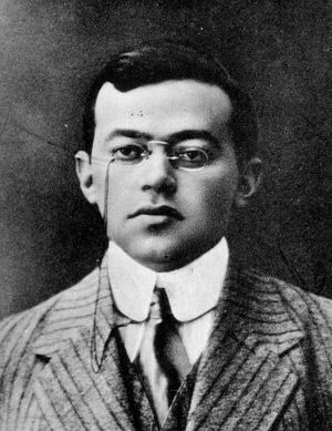 As a Young Man: An undated photo of Jabotinsky in Warsaw.