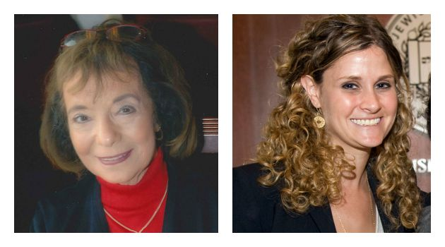 The Next Generation: Naomi Firestone-Teeter (right), who joined the Jewish Book Council in 2006, will succeed Carolyn Starman Hessel (left) as director.