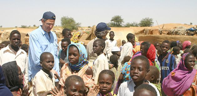 From New York to Africa: Rabbi Richard Jacobs of Westchester Reform Temple in Scarsdale, N.Y., selected to be the next head of the Reform movement, is also a board member of the American Jewish World Service. He visited children near the Chad border on an AJWS mission in 2005.