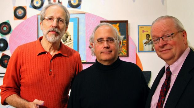 A Holy Trinity: Emanuel Perlman (center) with his pocketshul.com partners John Kiel and Bill Riley.