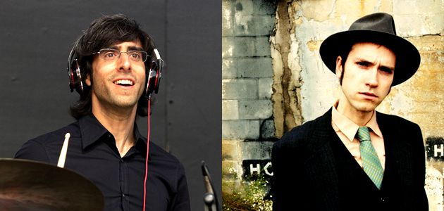 Together in Song: Brian Chase of the Yeah, Yeah, Yeahs, left, and Jeremiah Lockwood of the Sway Machinery reinterpret a Hasidic nigun.