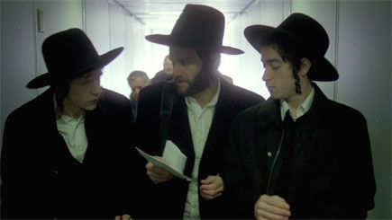 Unholy Trinity: From left: Jesse Eisenberg (also pictured above), Justin Bartha and Jason Fuchs play Hasidic ecstasy smugglers in the upcoming film ?Holy Rollers.?