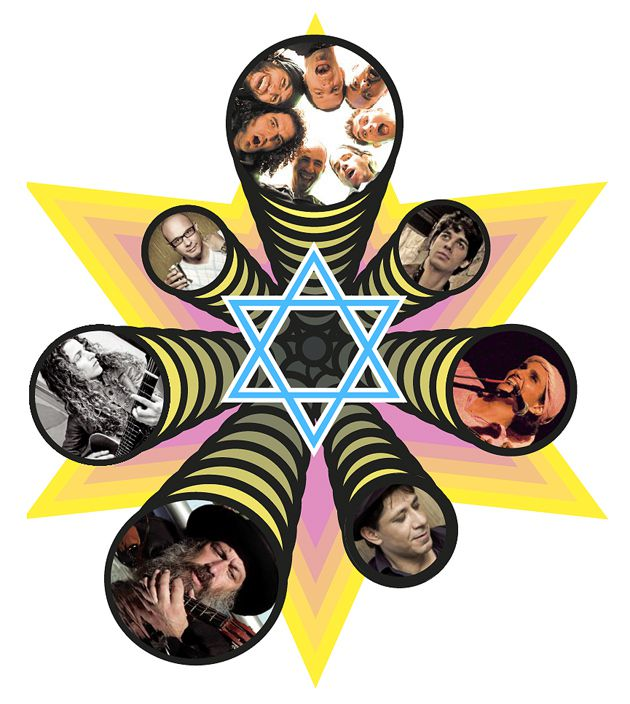 The God Squad:  Clockwise from the top, HaDag Nachash, Shai Gabso, Etti Ankri, Meir Banai, Shuli Rand, Alma Zohar and Kobi Oz, all represent the new rock ?n? roll interest in Jewish learning.