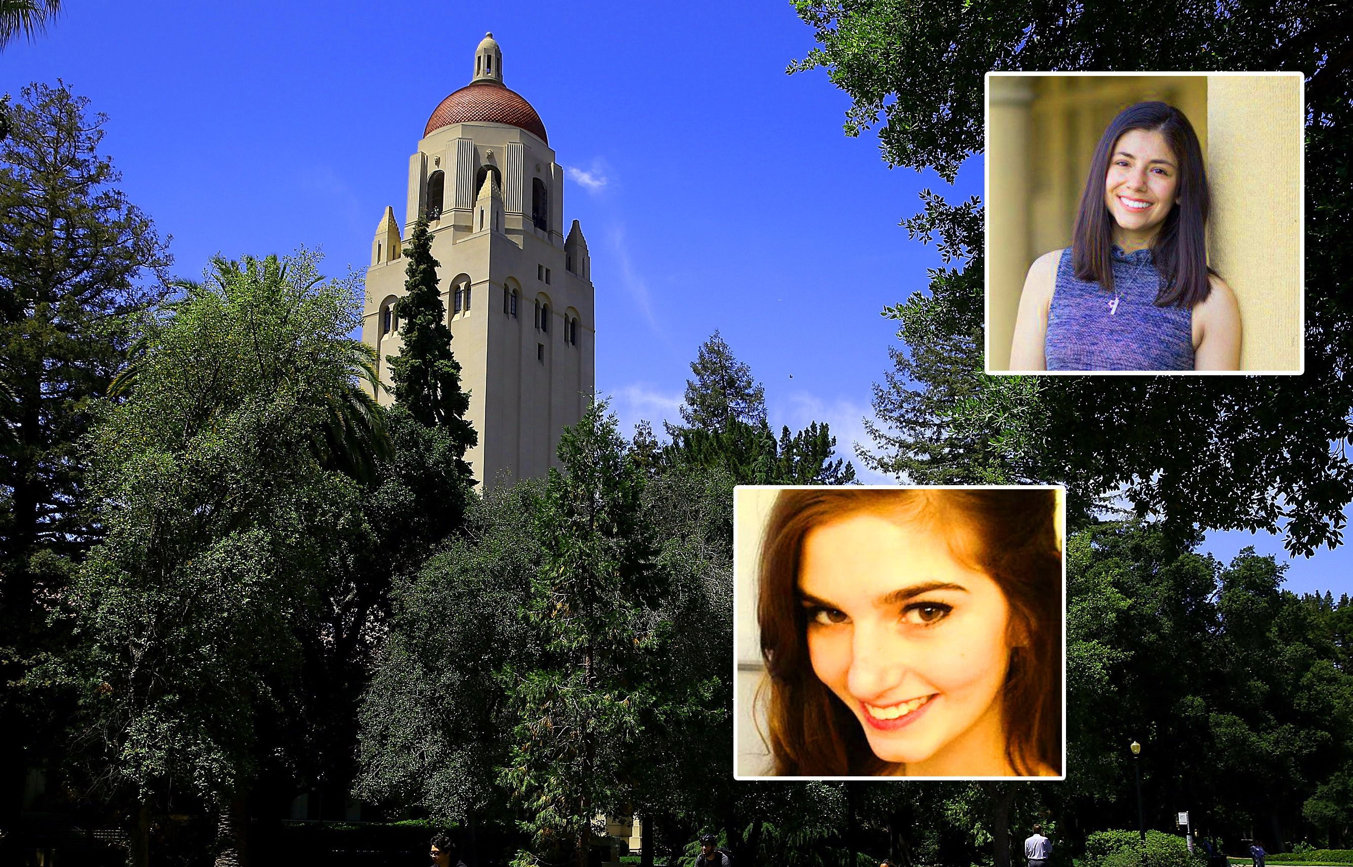 Standford Student Molly Hurwitz (top) and UCLA's Rachel Beyda (bottom) were both questioned about their Jewish identity.