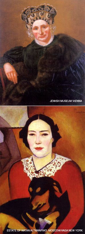 DOUBLE EXPOSURE: The new YIVO encyclopedia also includes numerous illustrations. Two paintings of Jewish women, one dated from 1900 (left) and the other from 1911, show the progression of Jewish self-image in art.