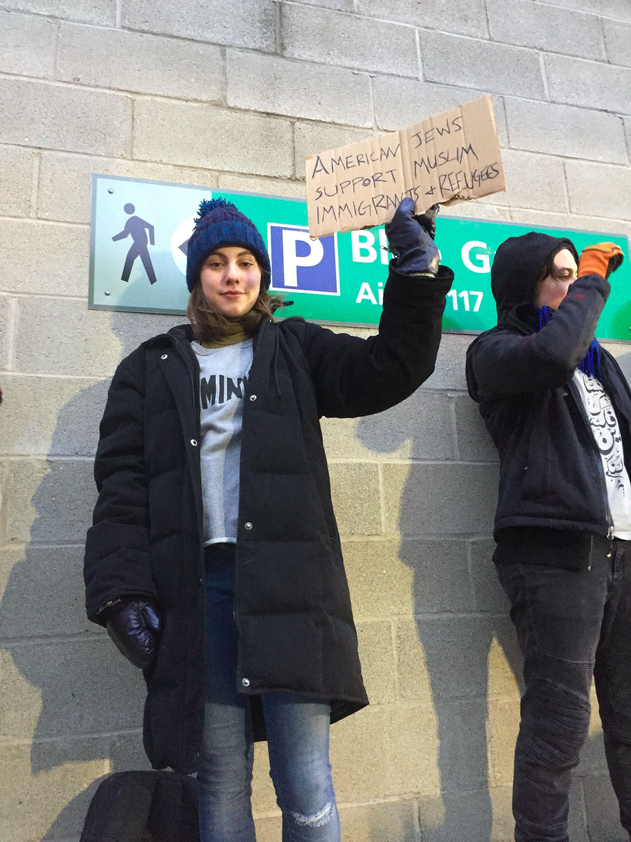 Protester Madeline Weinstein.