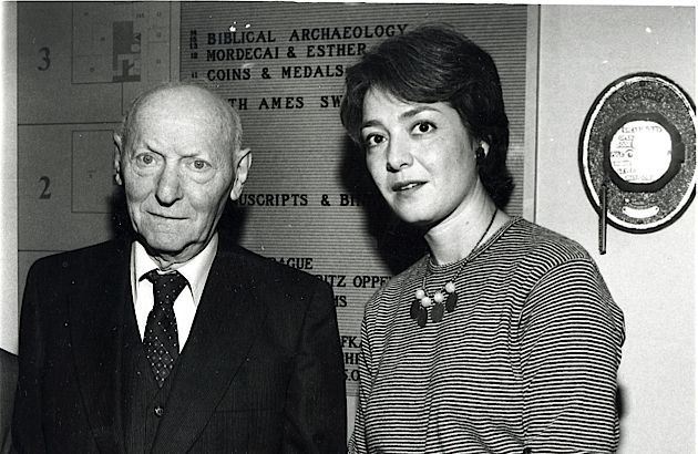 Belle and Nobel: Rosenbaum in 1981, the first year of her tenure, with 1978 Nobel Laureate Isaac Bashevis Singer.