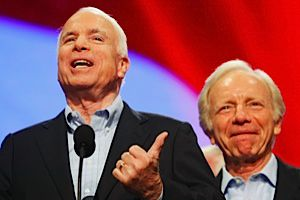 Roasting Joe: Senator McCain roasted his good friend Senator Lieberman at his retirement party.
