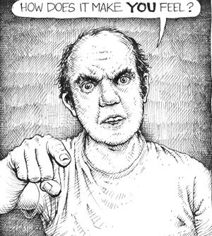 American Splendor: Harvey Pekar?s autobiographical comic strip started in 1976 and continued almost until his death. (Art by Joseph Remnant from http://www.smithmag.net/pekarproject)