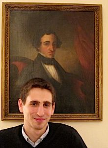 Cousins: The author with a portrait of a long-dead Sephardic ancestor.