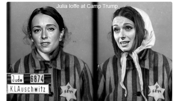 A screenshot from journalist Julia Ioffe's Twitter, showing a anti-Semitic photo she received after writing a profile of Donald Trump's wife Melania.
