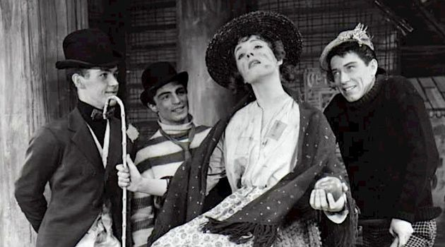 Fair Manners: : Alan Jay Lerner collaborated on some of the 20th century's most famous musicals, including 'My Fair Lady.' This scene shows Eliza (played by Julie Andrews) and her friends dreaming of a better life in the 1956/7 Broadway production.