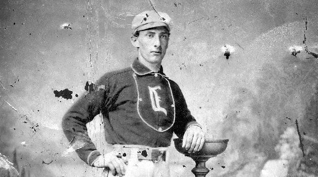 Victorious Victorian: Rudolph Kalish, seen here in 1870, played third base for Live Oak, an amateur team in Cincinnati.