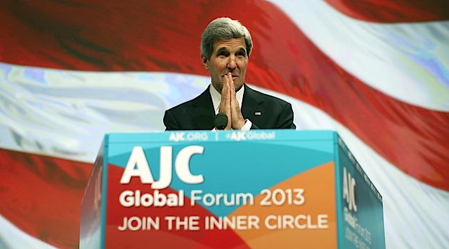 Backing Kerry: After a period of silence, the American Jewish Committee has spoken out in support of John Kerry?s call for peace talks.