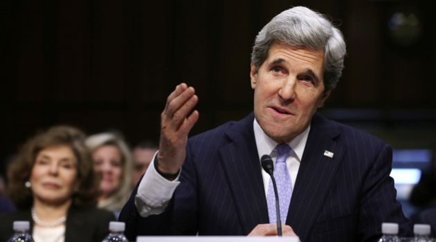 Determined: John Kerry seemed set on succeeding where others have failed.