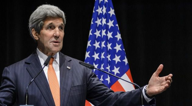 John Kerry delivers a statement about the recently concluded round of negotiations with Iran over their nuclear program.
